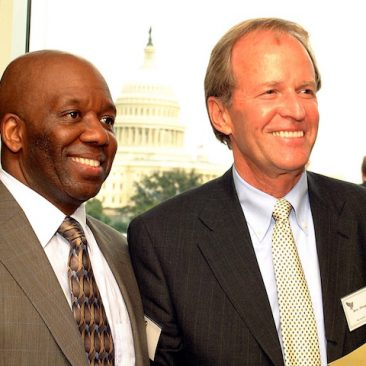 Calvin Earl with Rev. Doug Tanner, President of Faith and Politics attending a Congressional reception event in Washington DC in 2006.