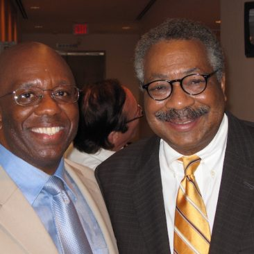 Calvin Earl with Dr. Clement Price, (Rutgers University) supported the Twin Resolutions recognizing the African American Spiritual as a National Treasure.