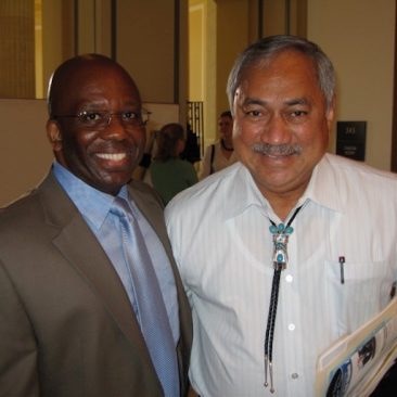 Calvin Earl with Rep. Eni F. H. Faleomavaega(A. Samoa) cosponsor H. RES 120 recognizing the African American Spiritual as a National Treasure in 2007.  110th US Congress.