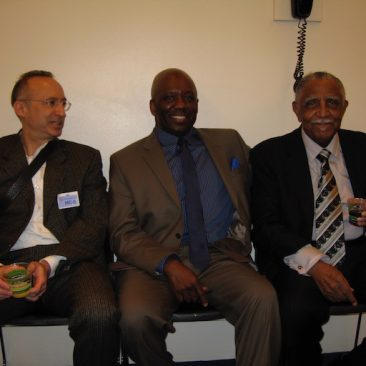 Calvin Earl with Richard Karz (Legacy: Black and White in America), and Rev. Joseph E. Lowery attending Congressional reception in Washington DC.