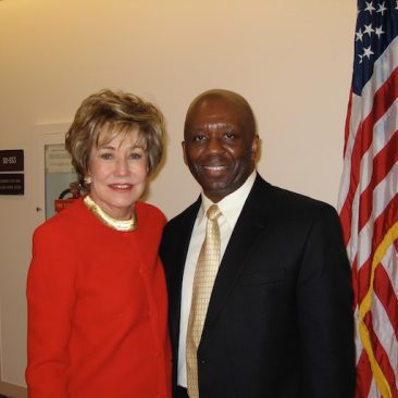 Calvin Earl with Senator Elizabeth Dole(NC) cosponsor S. RES 69 recognizing the African American Spiritual as a National Treasure in 2007.  110th US Congress