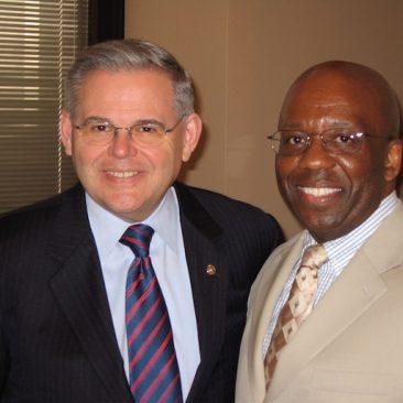 Calvin Earl and Senator Robert Menendez (NJ) Sponsor S. RES 69 recognizing the African American Spiritual as a National Treasure in 2007. 110th US Congress